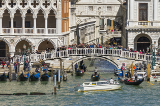 Canal Bridge Off The Lagoon Venice Italy