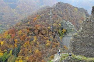Burg Are in Altenahr, Herbstimpressionen, Rheinland-Pfalz, Deutschland, Europa