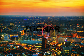 Aerial overview of London