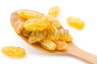 Yellow or gold raisins.