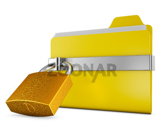 folder and  lock