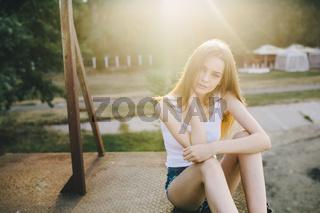 young beautiful girl posing