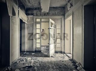 abandoned hallway