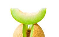 Melon honeydew and a slice