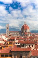 Santa Maria del Fiore Florenz hoch