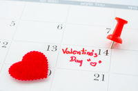 Calender of the valentine day