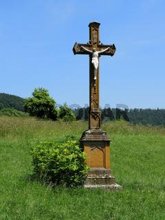 Wegkreuz; Feldkreuz; Christusfigur;