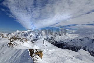 Aussicht von der Edelweißspitze, Nationalpark Hohe Tauern, Österreich, Europa