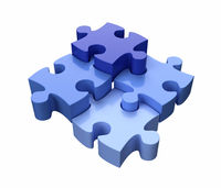 Jigsaw Puzzle Pieces Blue