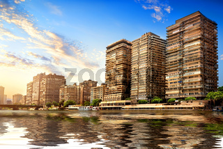 Modern Cairo on Nile