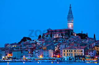 Tovn of Rovinj bluer hour view