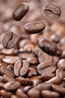 Fliegende Kaffeebohnen Kaffee Bohnen fliegen