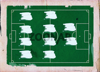 Football (Soccer Field) formation , 4-4-2