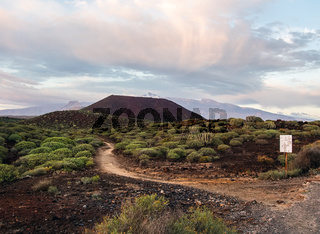 Picturesque view to the Teide volcano. Tenerife, Canary Islands. Spain
