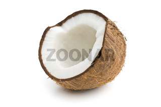 the halved coconut