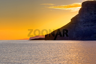 Sonnenuntergang an der Westküste Schottlands