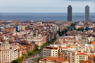City of Barcelona Cityscape