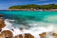 Beautiful bay on the Racha island, Thailand
