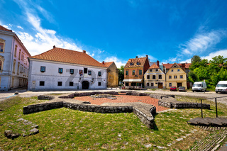 Historic town of Karlovac square view