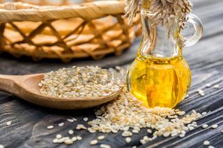 Sesam oil in bottle