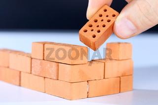 Aufbau einer Mauer