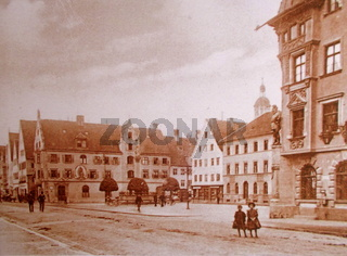 Marktplatz Mindelheim 1900 jahrhundert