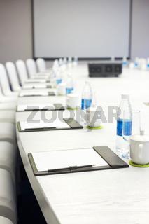 interior of modern meeting room