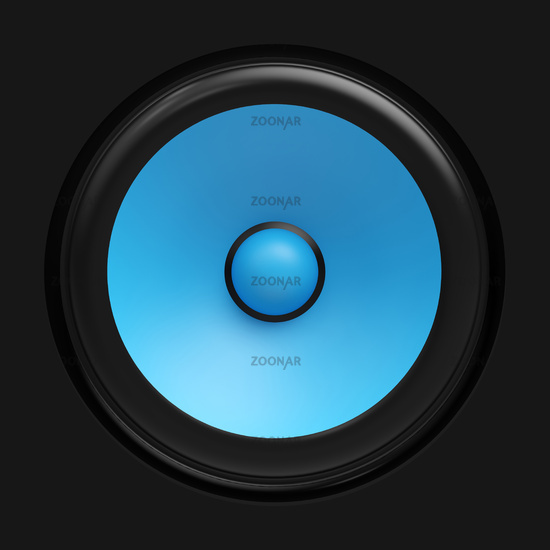 Big blue speaker