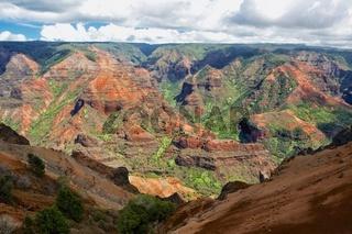 waimea canyon at kaui island hawaii