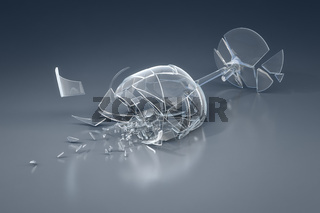 crushed wine glass