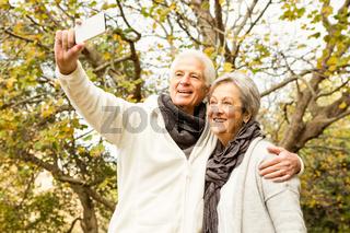 Senior couple in the park