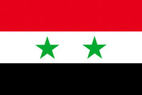 Vector of offficial flag of Syria country