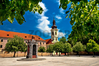Town of Karlovac square architecture and nature