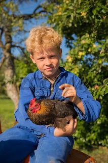 Farm Boy with tractor