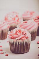Pink Cupcake with Vintage Instagram Filter