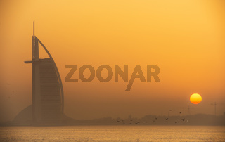 Sunrise at Burj Al Arab