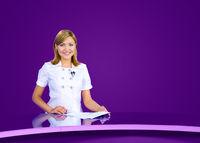 anchorwoman violet tv studio