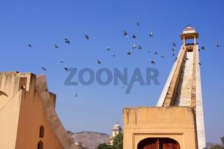 Astronomical Observatory Jantar Mantar in Jaipur, Rajasthan, India.