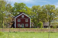 Rotes Bauernhaus in Schweden