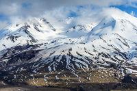Summit of Mount St. Helens in Washington USA