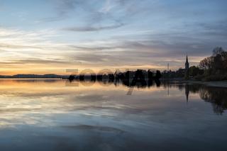 Abendstimmung am Bodensee bei Radolfzell