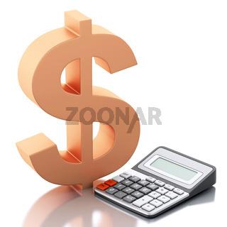 3d Financial business concept