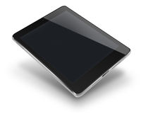 Tablet computer with black screen.