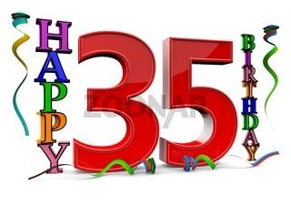 Alles gute zum 35. Geburtstag