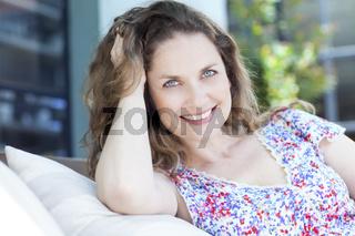 Happy adult woman portrait
