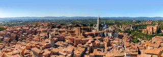 Siena, Italy panorama. Siena Cathedral, Duomo di Siena. Tuscany region
