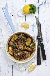 Lemon Chicken in Frying Pan