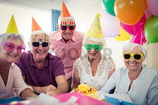 Group of seniors celebrating a birthday