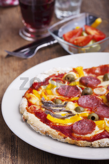 Closeup einer Pizza