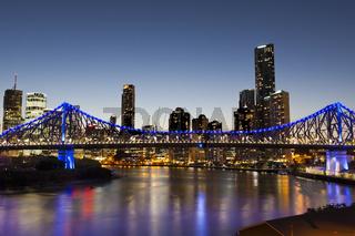 Brisbane Skyline und Story Bridge, Australien